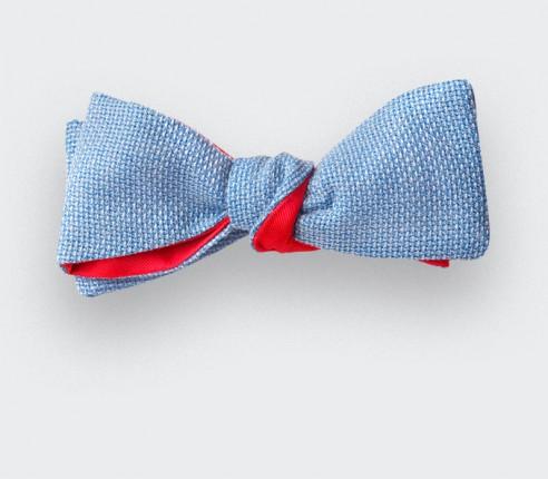 Noeud Papillon Slim Maille Bleu ciel - Laine - Cinabre Paris