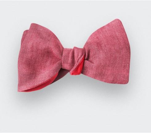 Raspberry Linen Bow Tie - CINABRE Paris