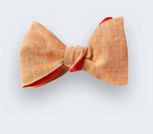 Sand Linen Bow Tie - CINABRE Paris