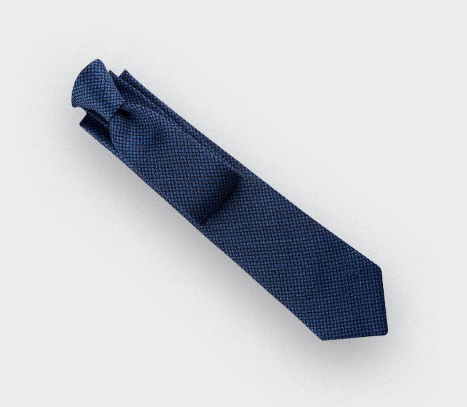 cravate météorite bleu marine - cinabre paris