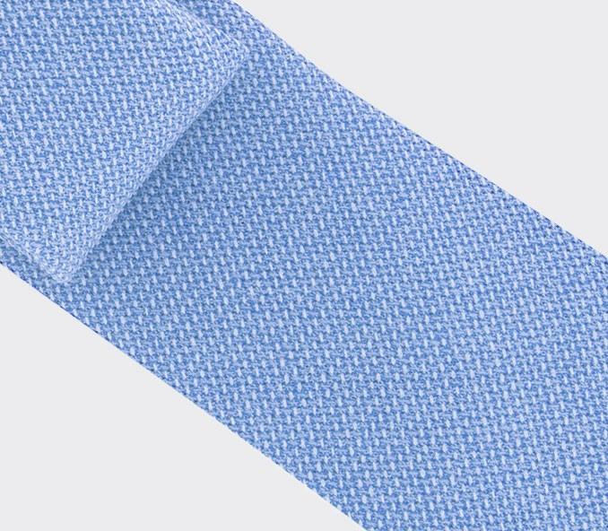 cravate maille bleu clair - laine - cinabre paris