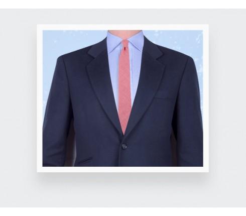 cravate maille rose chiné - cinabre paris
