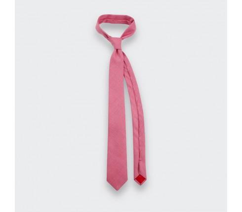 cravate maille rose - laine - cinabre paris