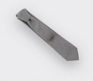 cravate maille gris - laine - cinabre paris