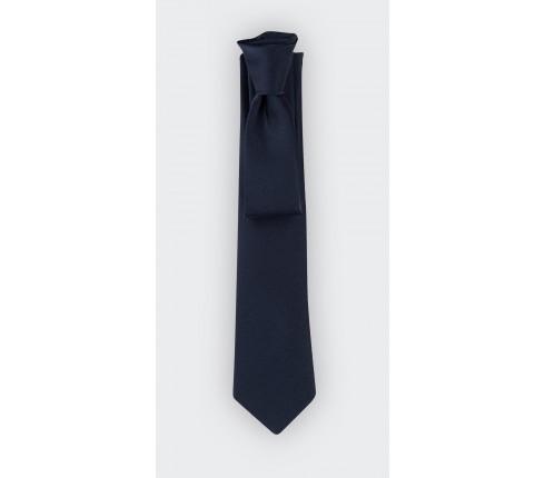 Cravate satin bleu marine - cinabre paris - fournisseur du Président