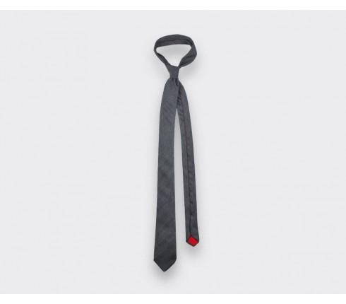Cravate Chevron gris anthracite - cinabre paris
