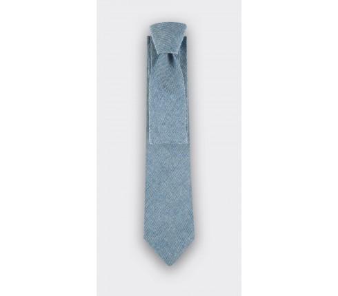 cravate lin gris - cinabre