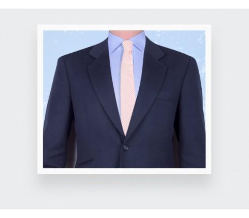 cravate seersucker - coton soie - Cinabre paris