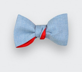Sky Blue Mesh Bow Tie