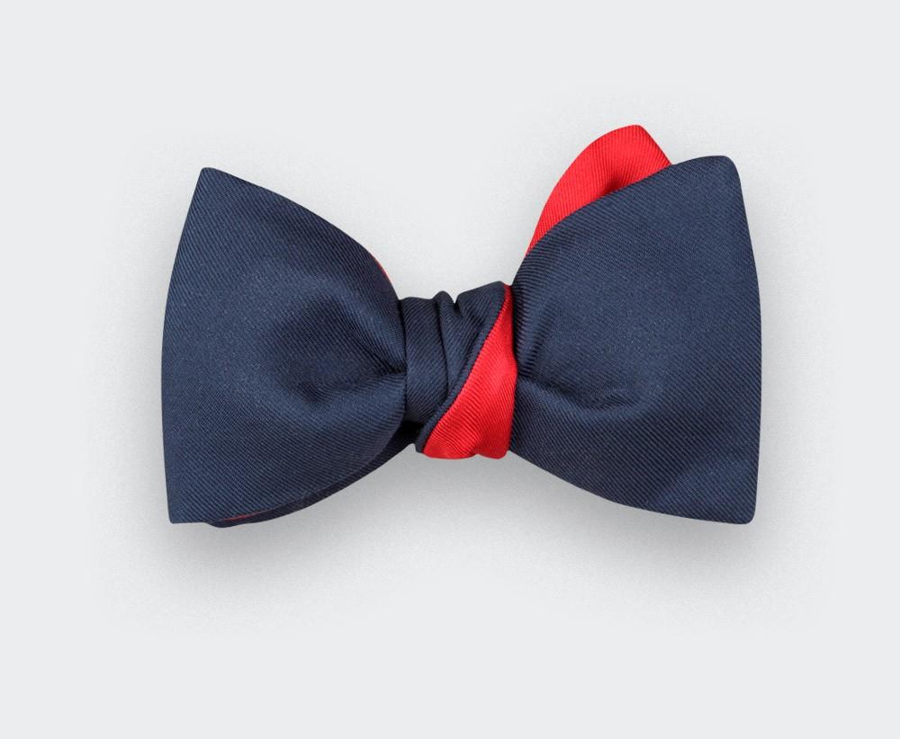 noeud papillon twill bleu marine - soie - Cinabre Paris