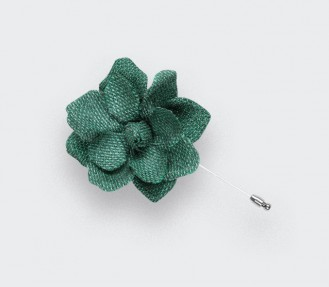 Green mesh Gardenia lapel pin