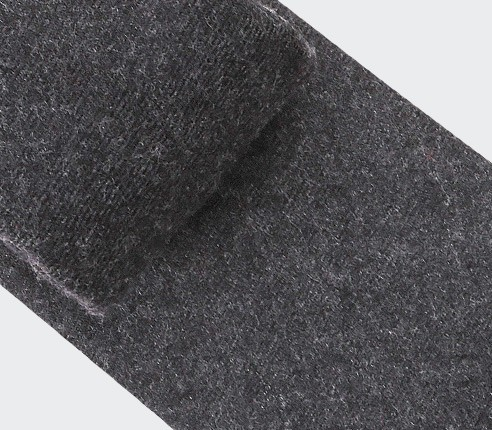 cravate flanelle gris anthracite - laine - cinabre paris