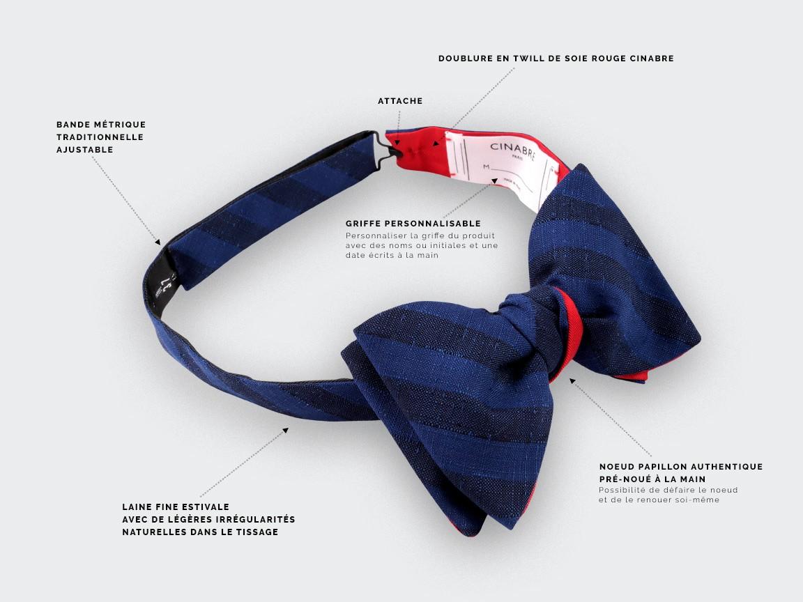 Blue Guéthary Bow Tie - CINABRE Paris