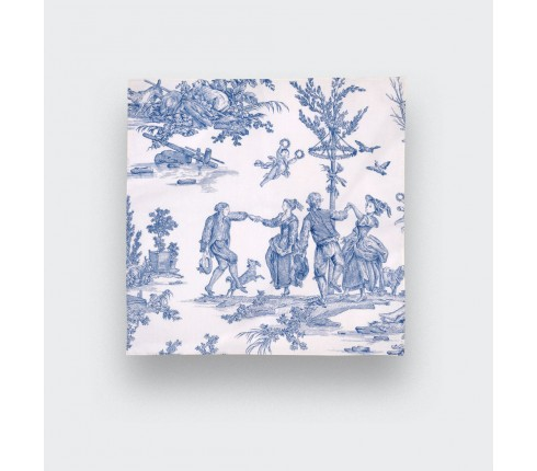 Pochette Toile de Jouy Bleu - CINABRE Paris