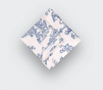 Blue Toile de Jouy Pocket...