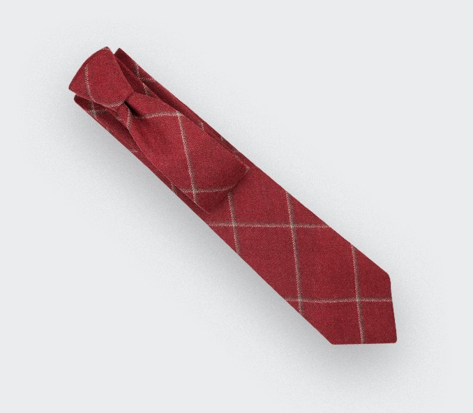 Cravate Guernesey Rouge