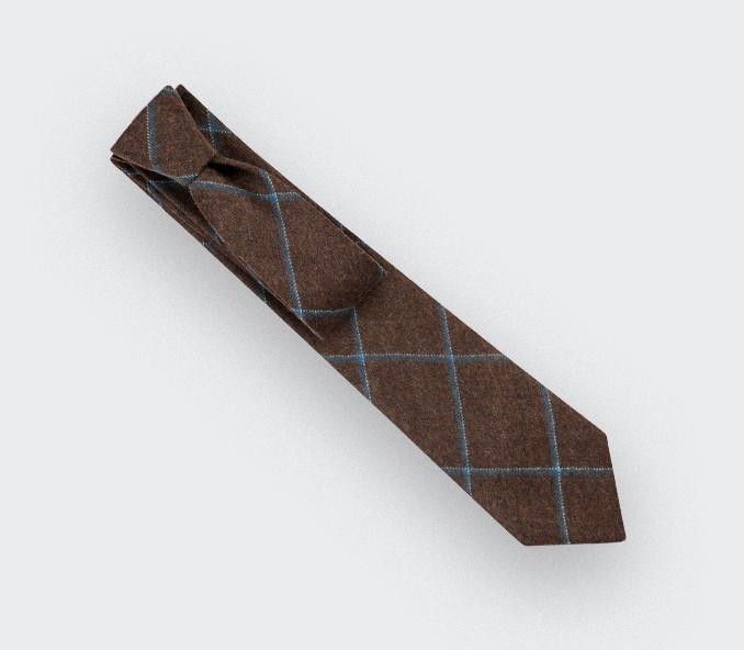 Brown Guernesey Tie - Cinabre Paris