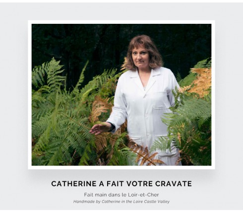 Cravate Sark Verte - Cinabre Paris
