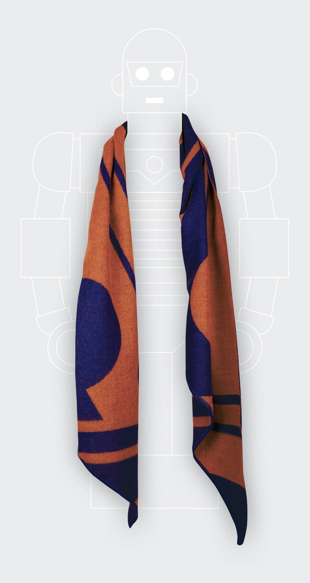 Rust colour scarf from Cinabre Paris