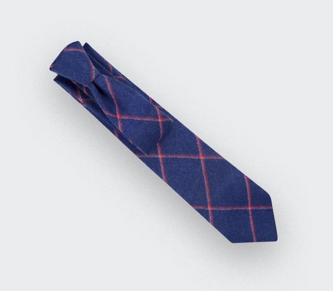 Cravate Guernesey bleu - Cinabre Paris