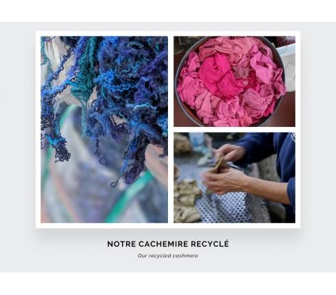 Écharpe cachemire recyclé ciel - Cinabre Paris