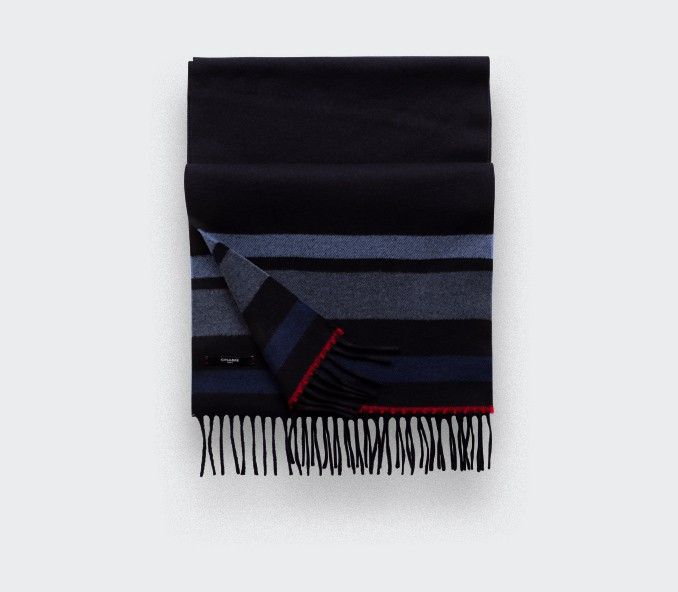 Light blue regenerated cashmere scarf - Cinabre Paris