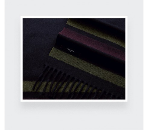 Burgundy regenerated cashmere scarf - Cinabre Paris