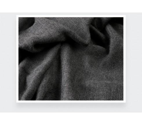 Grey Cashmere Giant Stole - Cinabre Paris