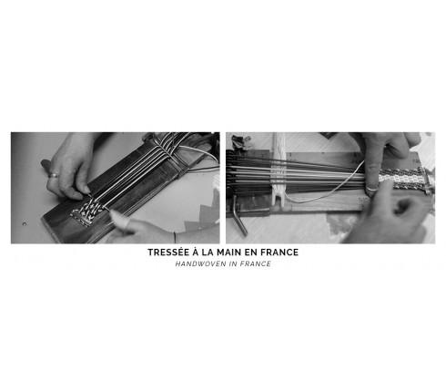 Ceinture tressée à la main en France Cinabre Paris