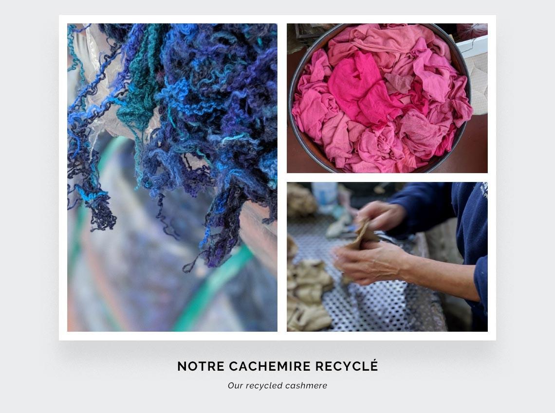 Écharpe cachemire recyclé rouge - Cinabre Paris