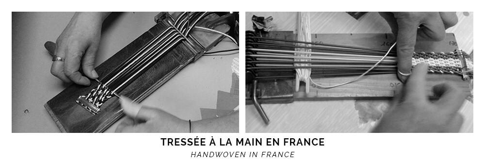 Ceinture tressée à la main en France - Cinabre Paris