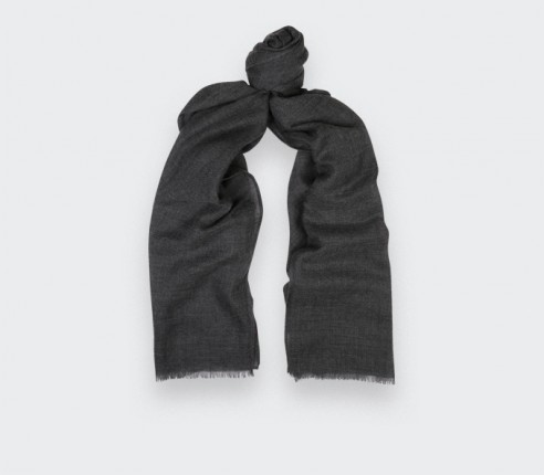 Grey cashmere scarf - Cinabre Paris