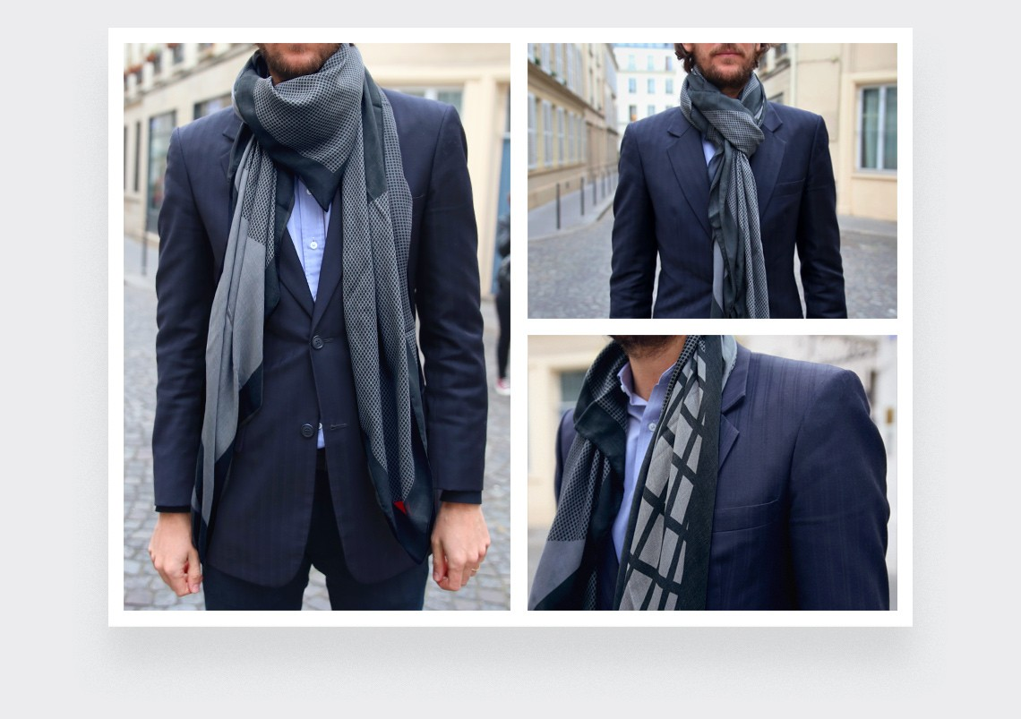 Grey UFO Pyramid Scarf