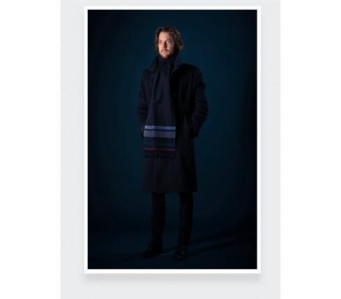 Light blue regenerated cashmere scarf - Cinabre Paris