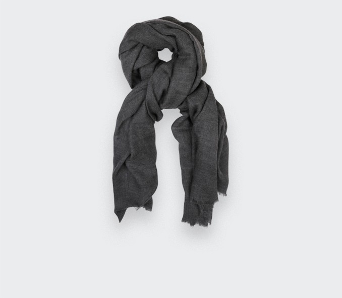 Grey Cashmere Giant Stole - Cinabre Paris