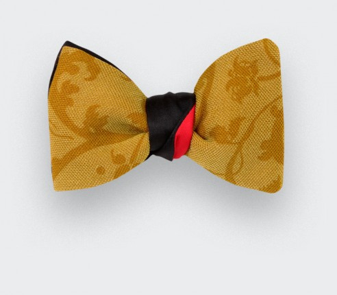 Bow tie Cinabre French Floral,  made in France