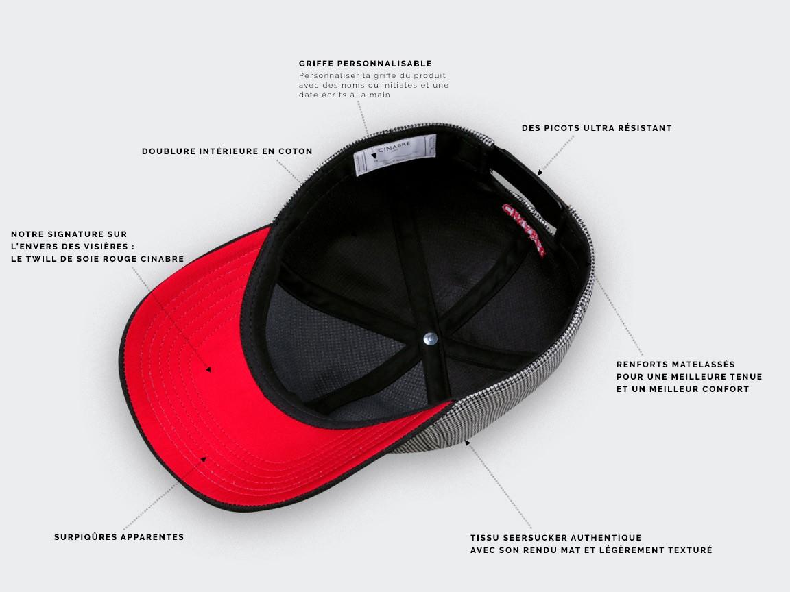 Meiya-Design Chapeau unisexe Motif pied-de-poule Noir//blanc