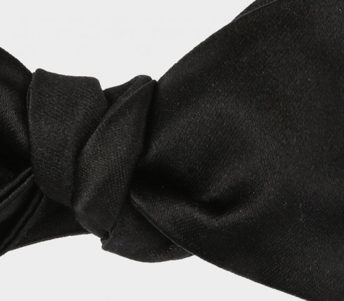 Black Diamond Point bow tie - Handmade by Cinabre Paris