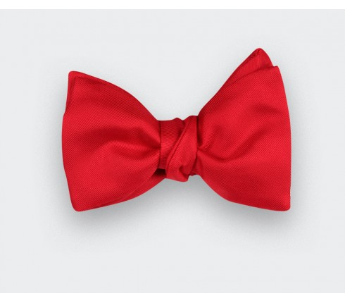 red twill bow tie - silk - cinabre paris