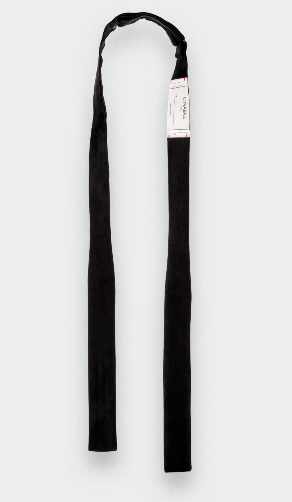 Noeud Papillon A Nouer Satin Noir Ultra Slim - Cinabre Paris