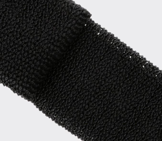 Cravate Tricot Noir - Fait main par Cinabre Paris