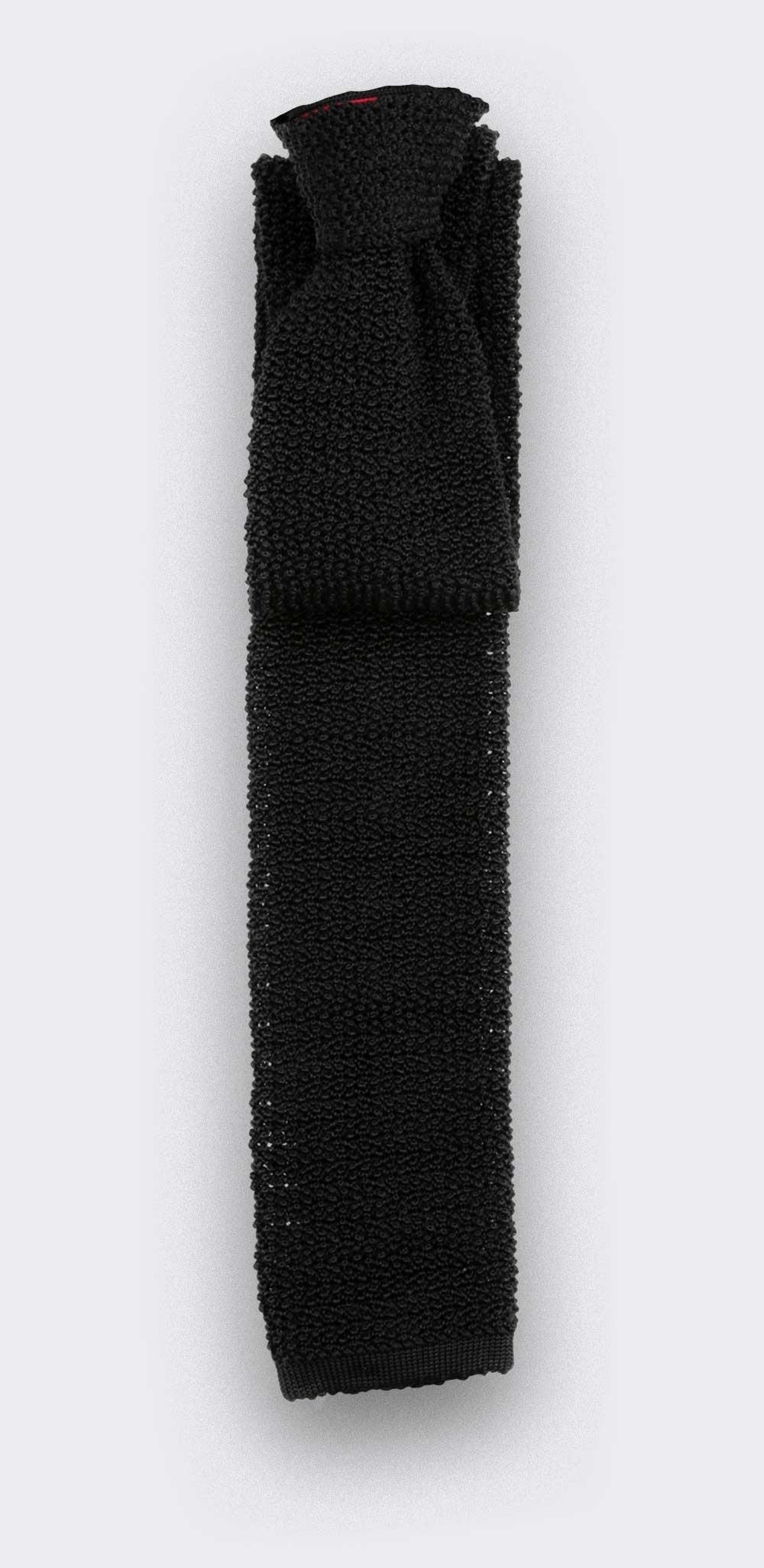 Black Knitted Tie - Cinabre Paris
