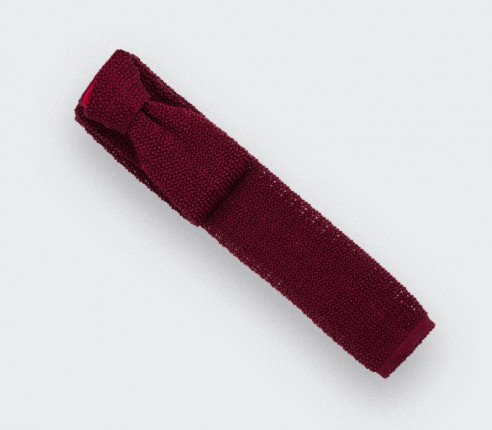 Red Knitted Tie - Cinabre Paris