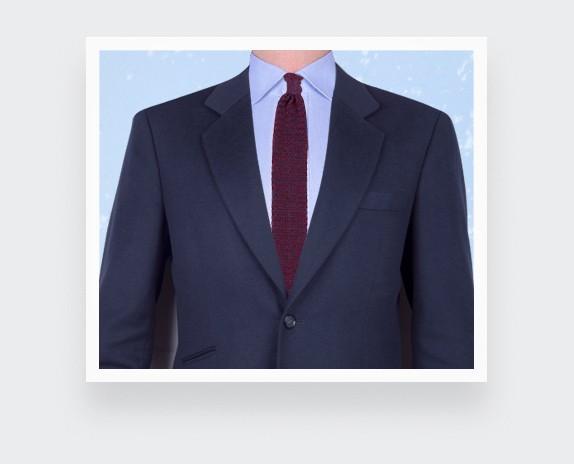 Burgundy Navy Blue Knitted Tie - Cinabre Paris