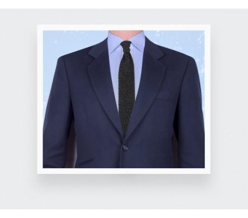 Cravate Tricot Anthracite Gris - Cinabre paris