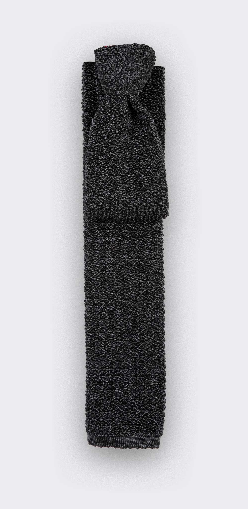 Grey Anthracite Knitted Tie - Cinabre Paris