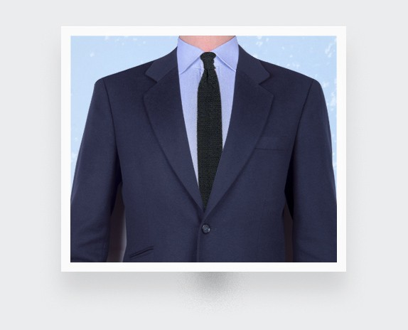 Green Navy Blue Knitted Tie - Cinabre Paris