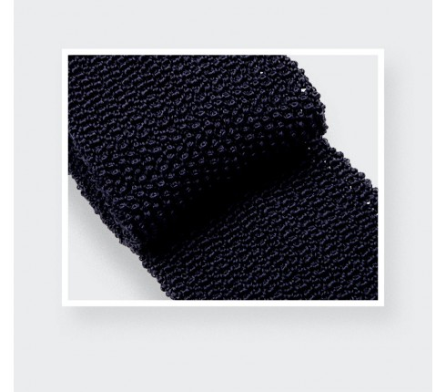 Navy Blue Knitted Tie - Cinabre Paris