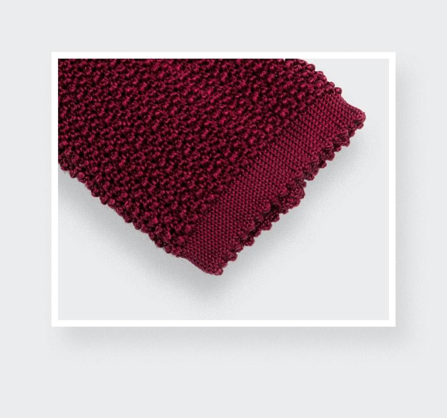 Cravate Tricot Rouge - Cinabre Paris
