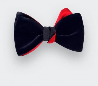 bow tie navy blue velvet by Cinabre Paris